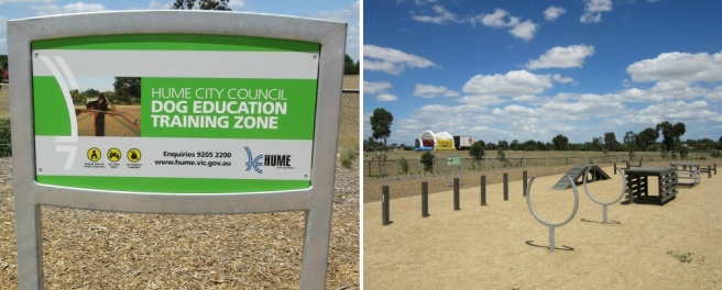 Agility course at Craigieburn Dog Park