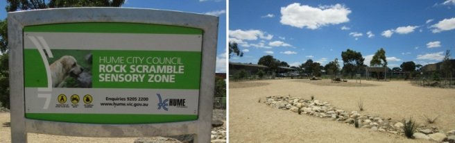 Sensory zone at Craigieburn Dog Park