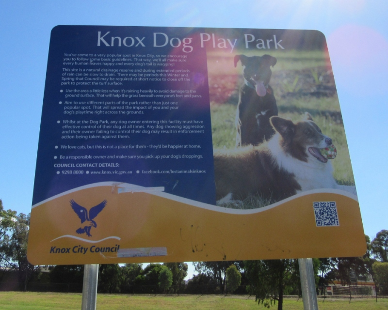 knox dog play park